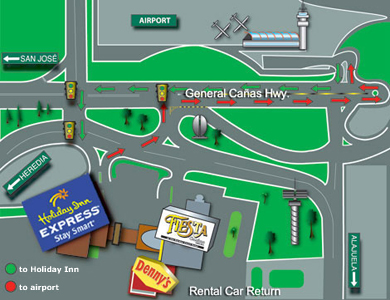 Directions on how to get to Hotel Holiday Inn Express